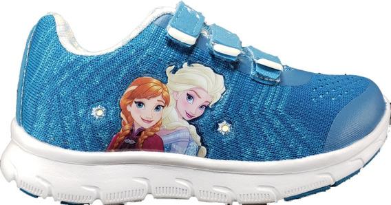 Zapatillas Addnice Frozen C/luces Original Nena Megacaseros