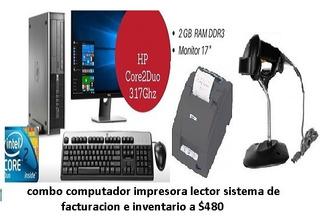 Computador I5 Core2 Sistema Facturacion Impresora Lect Caja