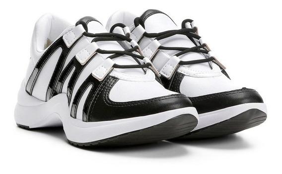 Tênis Ramarim Chunky Sneaker Feminino 1875202 - Branco/pret