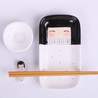 Set Sushi Kokeshi Blanco