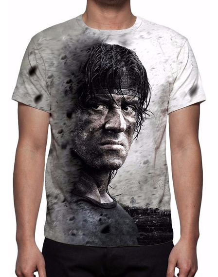 Camisa, Camiseta Filme Rambo 4 (stallone)