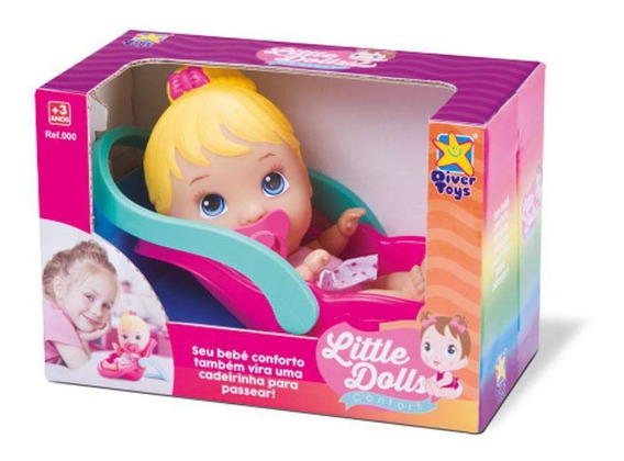 Boneca Little Dolls Bebê Conforto 2 Em 1 Divertoys 681