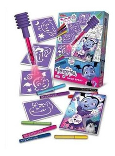 Magic Spray Con Aerografo Vampirina Juego Pintar C/ Stencil