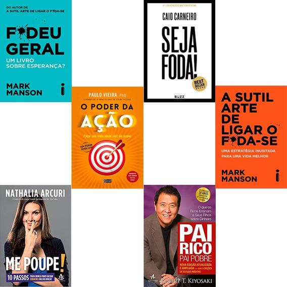 Combo Pai Rico Pai Pobre+ Seja Foda+ Fudeu Geral + 3 Livros