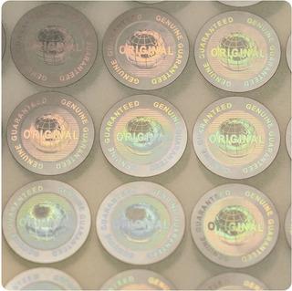 500 Hologramas Plata Original De 2cm Daño Al Despegarse