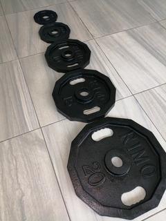 Disco Olímpico Dodecagonal 60kg P/barra Olímpica 2 Gym