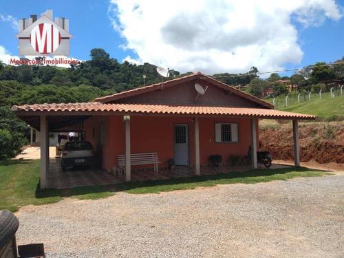 Ótima Chácara Com 03 Dormitórios, Pomar, Terreno Plano E Linda Vista À Venda, 1000 M² Por R$ 250.000 - Rural - Socorro/sp - Ch0652