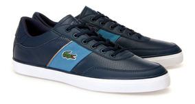90fe5a3c Teni Hombre Zapatilla Lacoste Court 100% Original Zapato