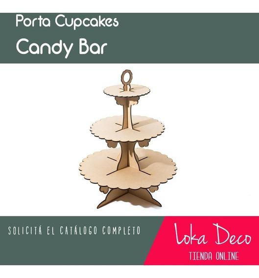 Candy Bar Porta Cupcakes X3 Pisos! Fibrofácil - Oferta!.