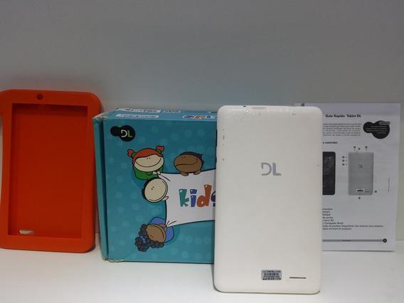 Tablet Branco Infantil Kids Dl C\ Defeito Tela Trincada