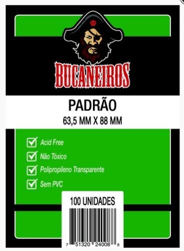 Sleeves Bucaneiros 63,5 X 88 Mm Pacote C/100 (padrão)