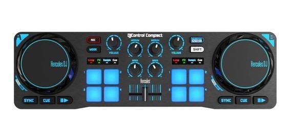 Controladora Dj Hercules Dj Control Compact + Dj Djuced - Pd