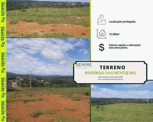 Imagem 1 de 24 de Terreno Para Alugar, 15.000 M² - Liberdade - Ribeirão Das Neves/mg - Te0038