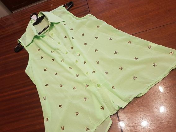 Camisa Wila, Crep Con Letras Doradas T M