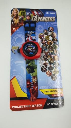 Reloj Proyector Avengers 24 Imagenes  Espantacuco Vengadores