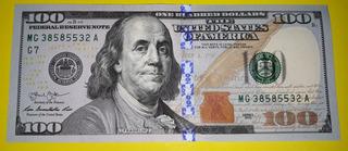 Cédula Nova De Cem Dólares Flor De Estampa