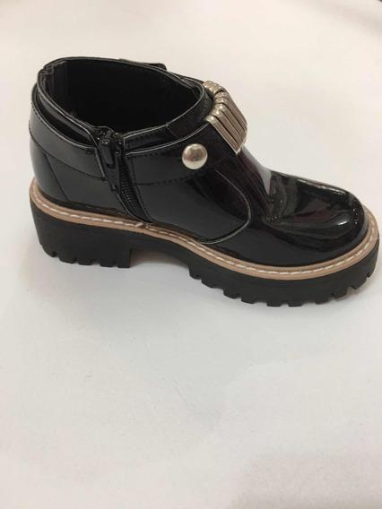 Zapatos Botitas Charol De Nena Niña