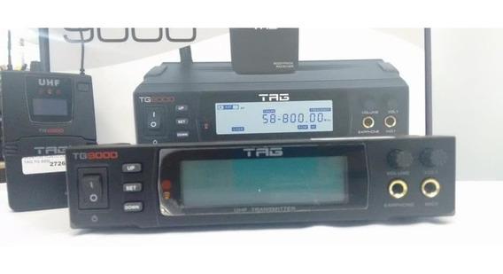 Monitor Ponto De Ouvido Tagima Tg9000 S/ Fio Digital Uhf Nf