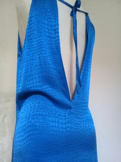 Vestido Reptil Azul Francia