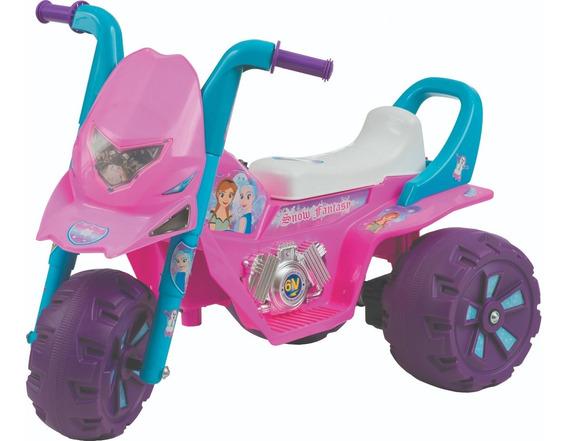 Mini Moto Elétrica Infantil Com Marcha Até 35 Kg Rosa E Azul