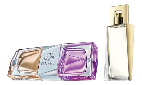 Combo Perfumes Avon Femininos Eve Duet + Attraction For Her