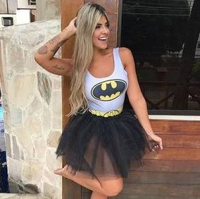 Body Batman Batgirl Feminino Fantasia Roupas Femininas