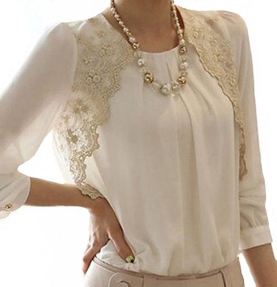 Blusa Camisa Feminina Social Luxo Foto Real Moda