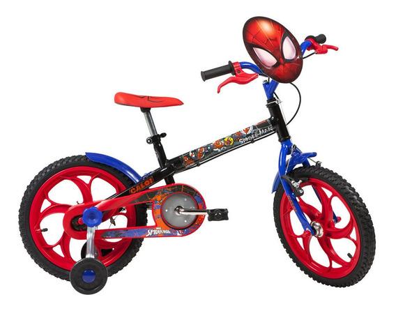 Bicicleta Aro 16 - Disney - Marvel - Spider-man - Preta - Ca