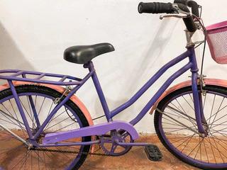Oferta! Bicicleta Violeta Para Chica. Rodado 24