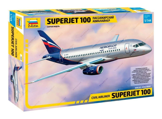Superjet 100 Sukhoi Zvezda 7009 Plastimodelo Escala 1/144