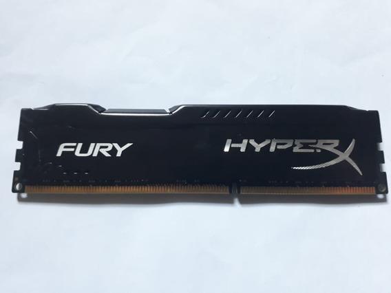 Memória Kingston Hyperx Fury 8gb Ddr3 1600 Mhz Preta 100%