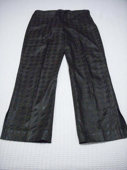 Pantalon Capri Marron Y Negro