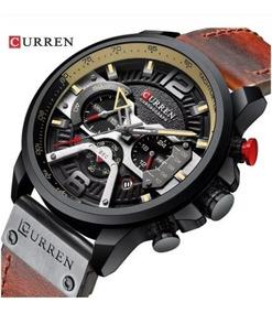 Relógio Masculino Curren 8329 Original Marrom - Preto