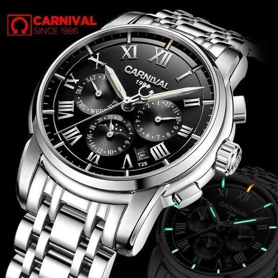 Relógio Carnival T25 Automático Com Ponteiros Iluminados