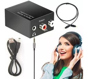 Conversor Áudio Digital Ótico Toslink Para Rca P2 Fone