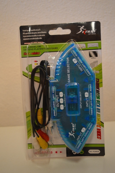 Chaveador Rca De Audio E Video - 3 Entradas