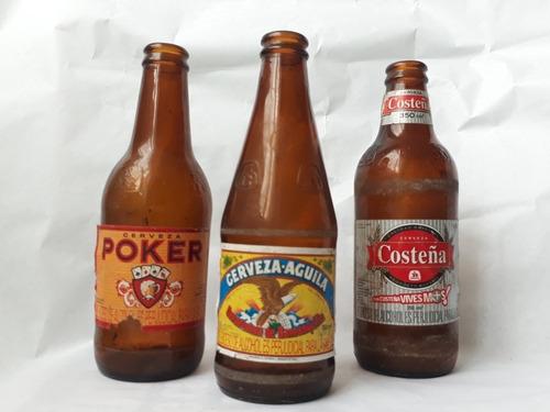 Coleccion Botellas Antiguas Aguila Costena Y Poker Mercado Libre