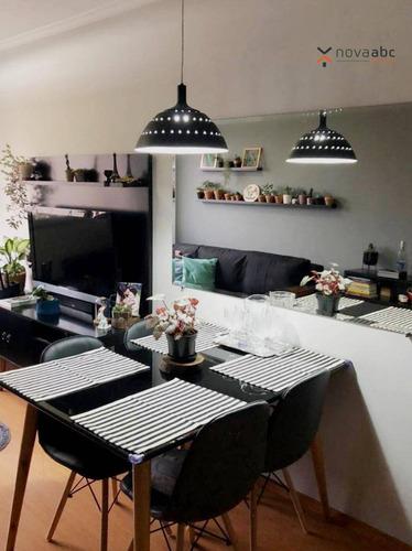 Imagem 1 de 13 de Apartamento Com 2 Dormitórios À Venda, 50 M² Por R$ 260.000,00 - Parque Das Nações - Santo André/sp - Ap3195