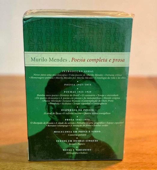 Murilo Mendes - Poesia Completa E Prosa - Nova Aguilar