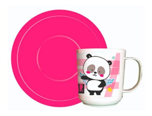 Imagen 1 de 1 de Taza Con Plato Panda Fl055 Cresko