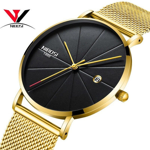 Relógio Nibosi Unissex Feminino Masculino 2321 Luxo C/ Caixa