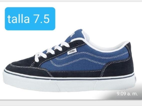 Zapatillas Vans Originales Azules Caña Baja.