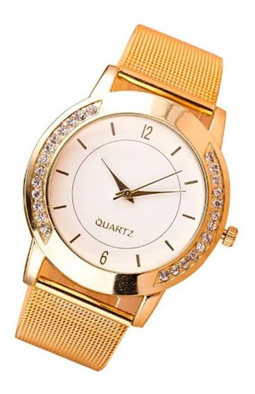 Relógio Feminino Analogico Geneva Luxo Social