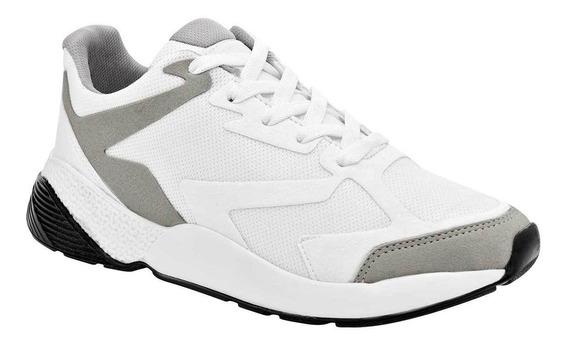 Tenis Casual Dama Blanco Gris 095-192