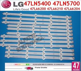 Kit Barras Led Tv Lg 47ln5400 47ln5700 47la6210 47la6204