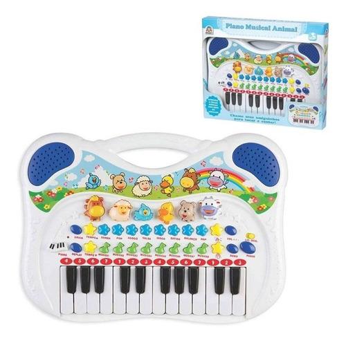 Imagem 1 de 4 de Piano Musical Com Várias Funções Divertido Azul 6407