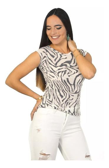 Franela Basica Zebra Gris Tipo T Saints