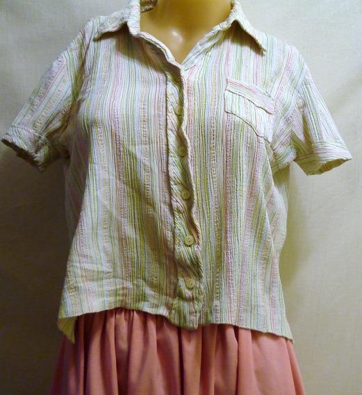 Camisa Crepe Vintage Talle 2