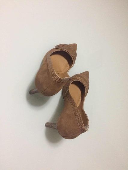 Sapato Social, Salto Alto, Marrom, Número 38, Dunes, Novo.