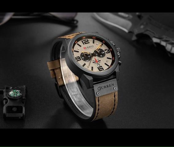 Relógio Barato Super Luxo Couro Aço Inoxidável Oferta